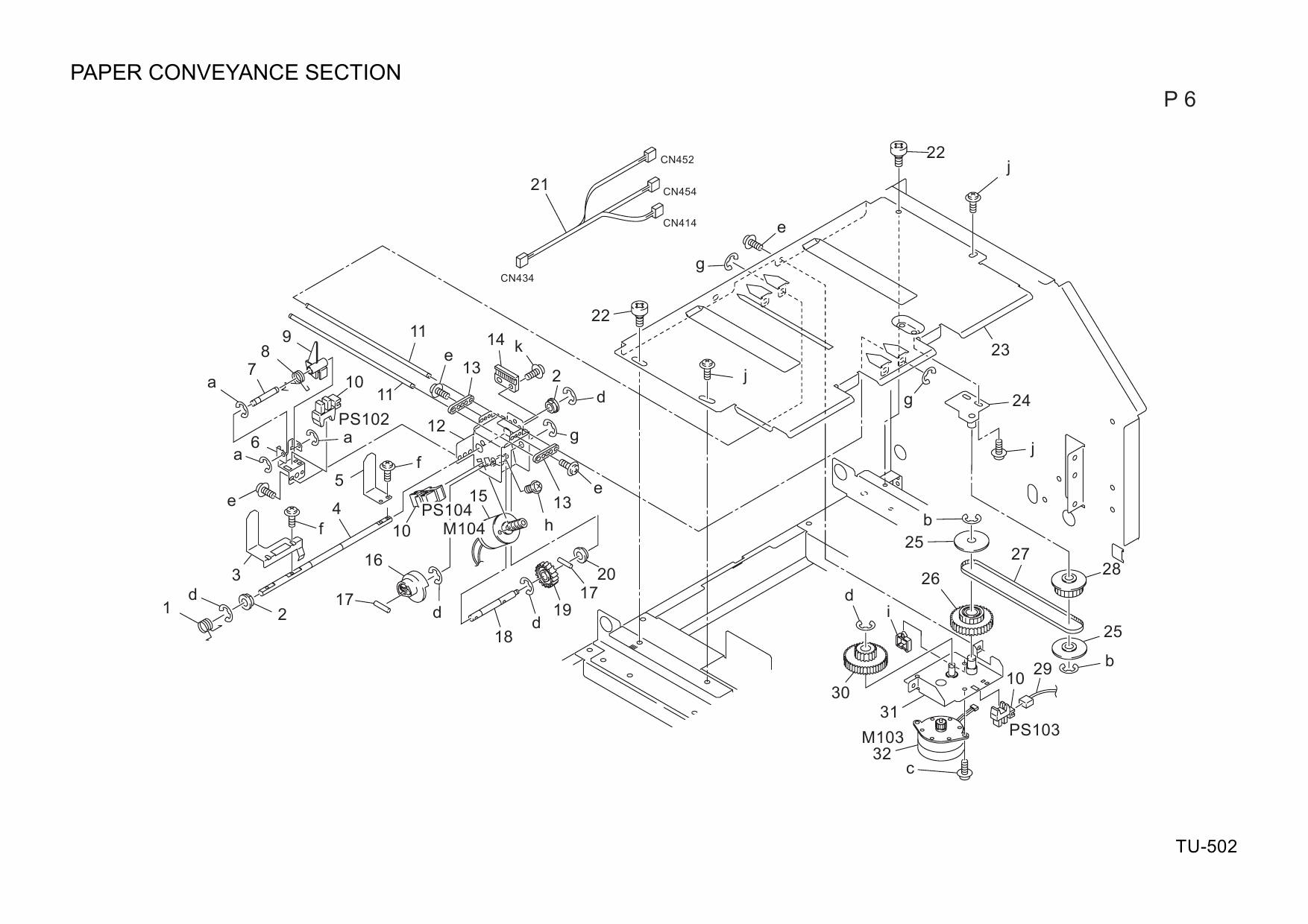Konica-Minolta Options TU-501 A110 Parts Manual